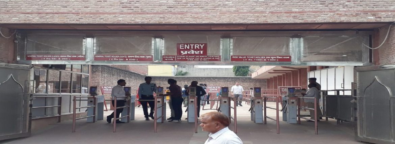 Turn style Gates At the Taj Mahal