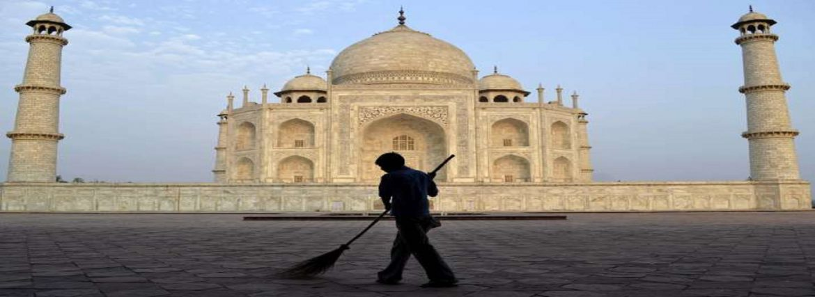 Proposed Cleaning of the Dome of Taj Mahal in 2020